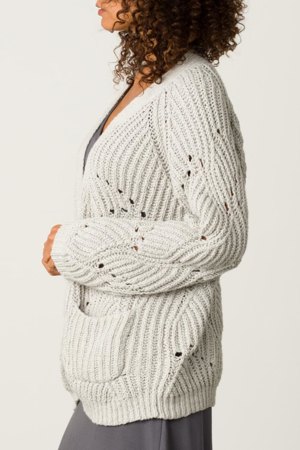 Margaret O'Leary Open Stitch Cardigan - Front Full Image