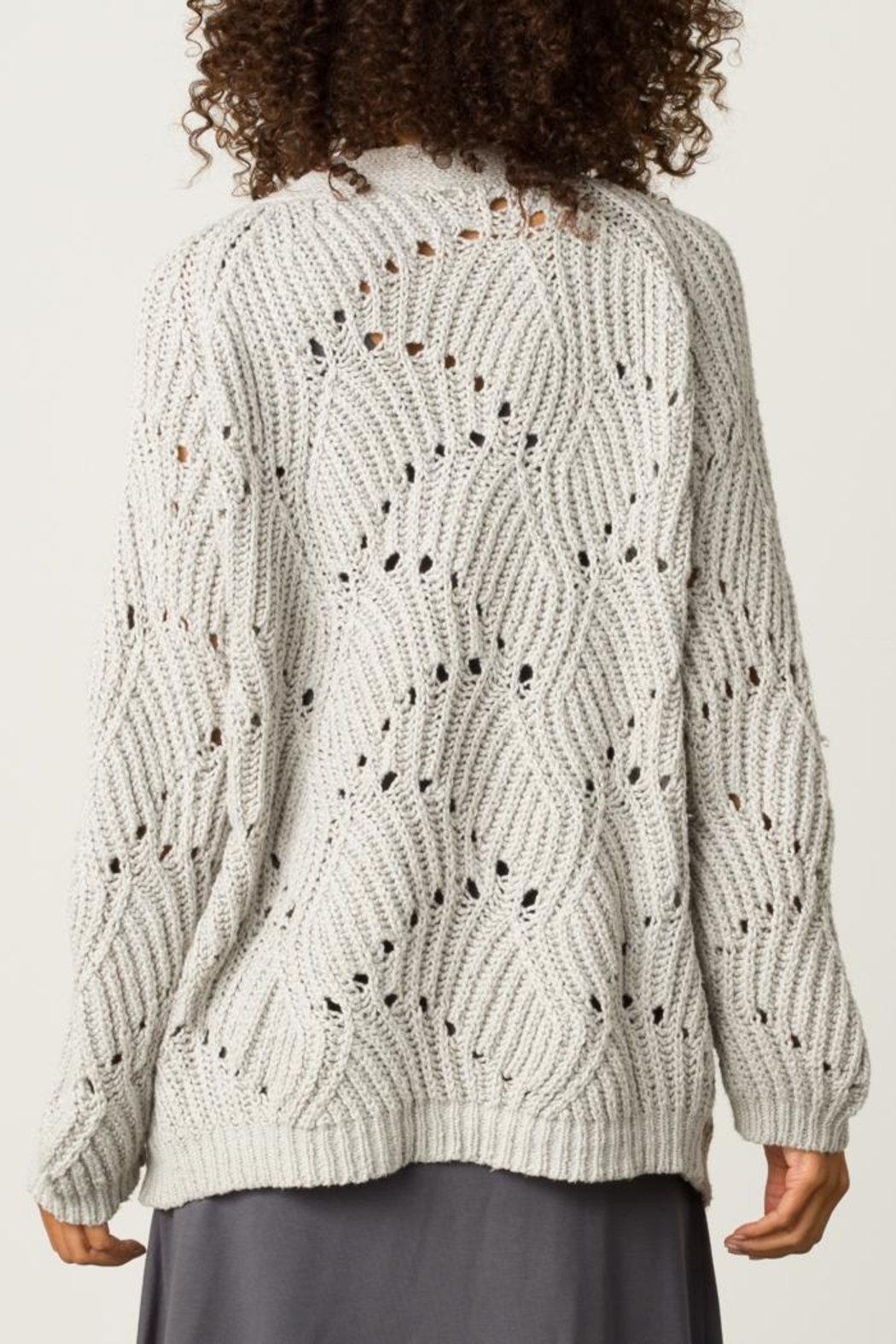 Margaret O'Leary Open Stitch Cardigan - Side Cropped Image