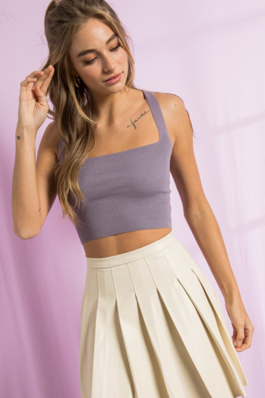 Paper Moon Open Strappy Back Tank - Main Image