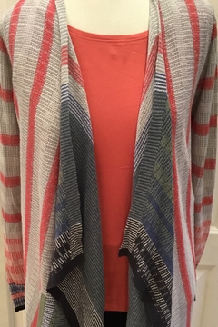 Nic+Zoe Open striped pattern cardigan - Alternate List Image