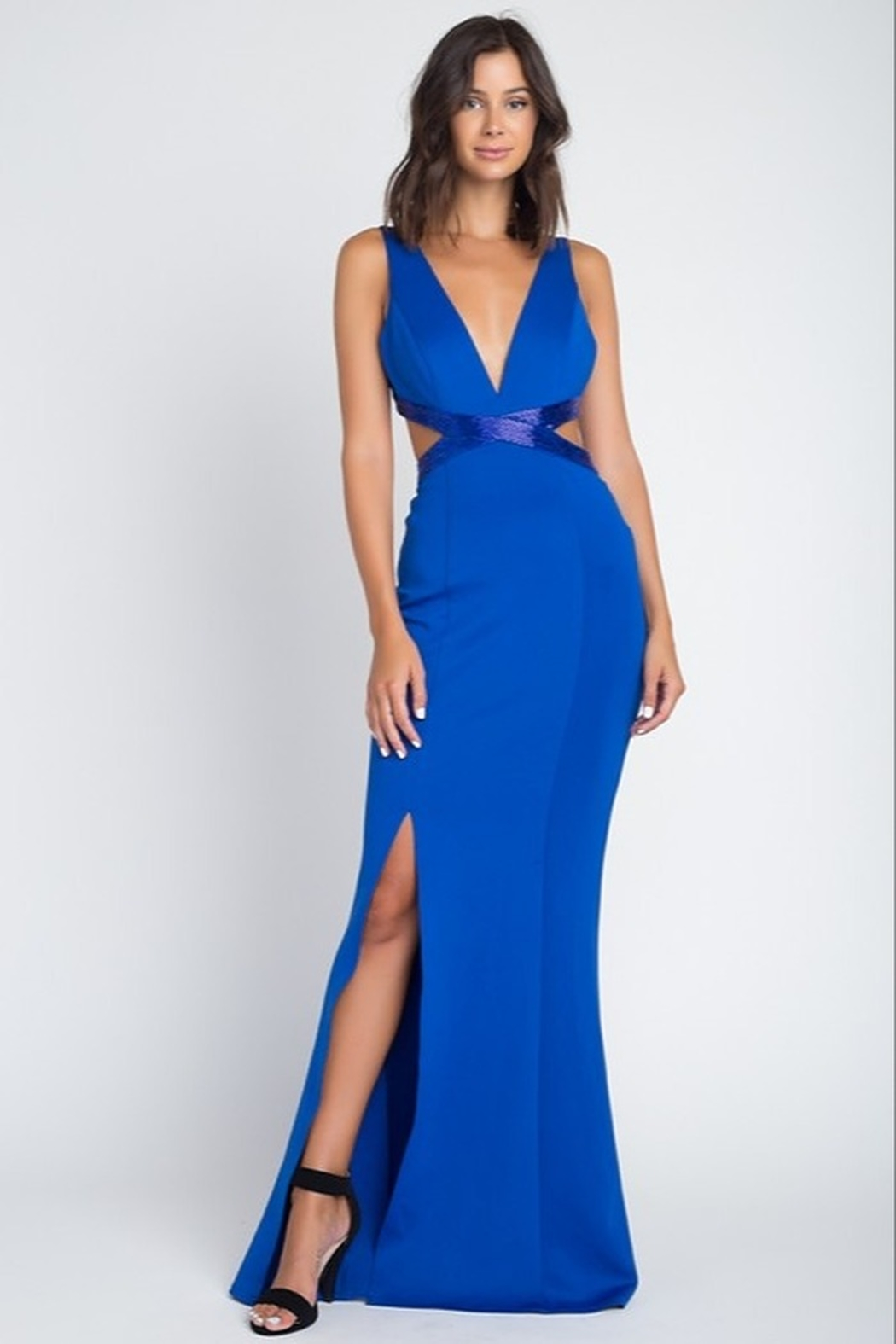 Minuet Open Waist Gown - Front Cropped Image