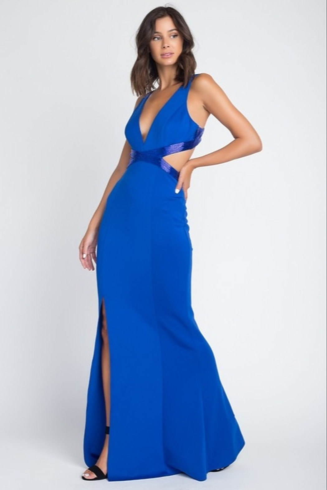 Minuet Open Waist Gown - Side Cropped Image