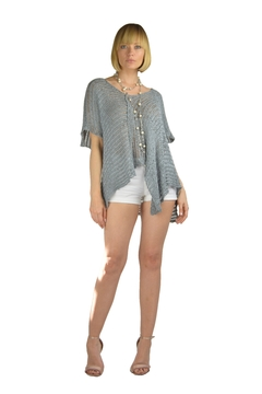 BK Moda Open-Weave S/s Assymetrical-Pullover - Product List Image