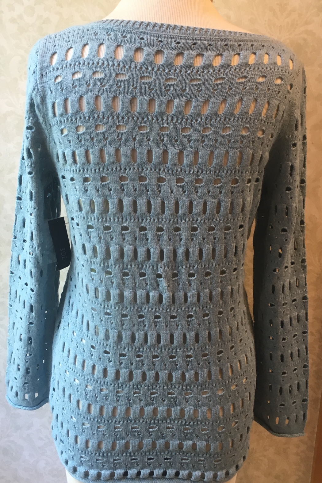 Nic+Zoe open weave sweater - Side Cropped Image
