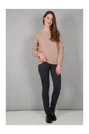 Molly Bracken Open Work Sweater - Product Mini Image