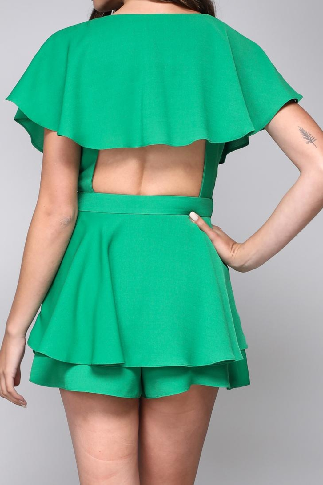 Do & Be Open Wrap Playsuit - Front Full Image