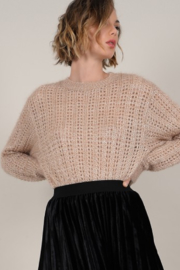 Molly Bracken Openwork Knit Sweater with Sequin Detail - Product Mini Image