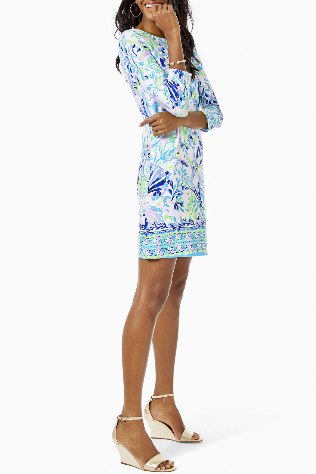 Lilly Pulitzer Ophelia Knit Swing Dress - Back Cropped Image