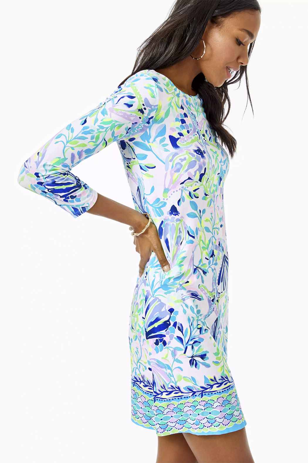 Lilly Pulitzer Ophelia Knit Swing Dress - Front Full Image