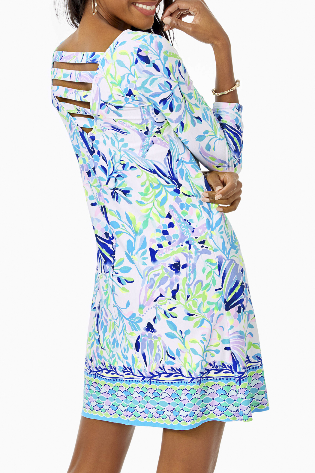 Lilly Pulitzer Ophelia Knit Swing Dress - Side Cropped Image