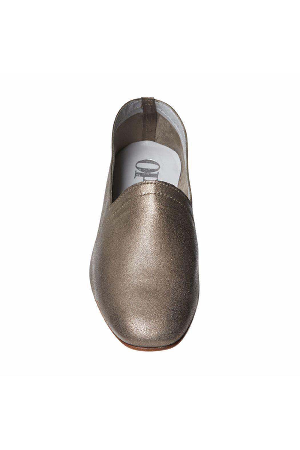 OPS&OPS Bronze Soft-Leather Flat - Front Full Image