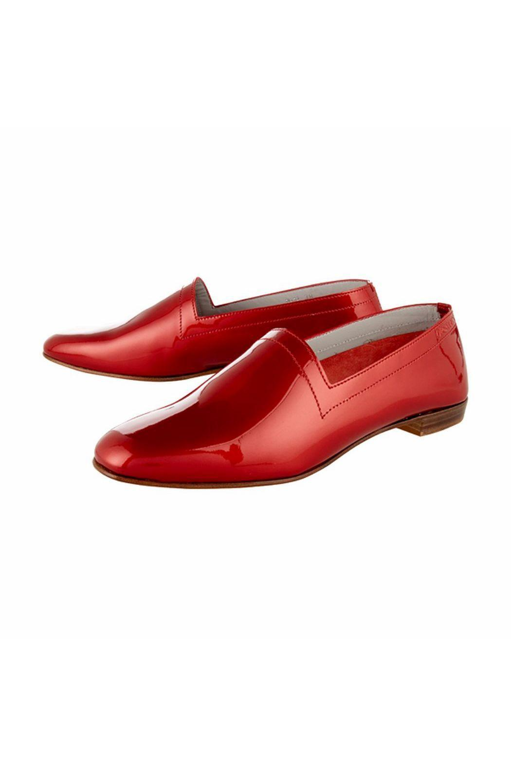 OPS&OPS Red Patent-Leather Shoe - Side Cropped Image