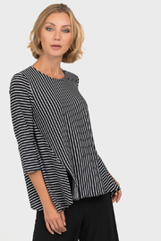 Joseph Ribkoff  Optical Lines Top, Black/White - Front cropped