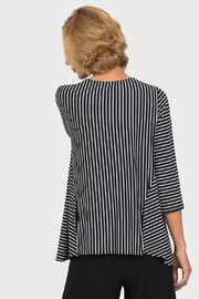 Joseph Ribkoff  Optical Lines Top, Black/White - Side cropped