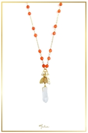 Malia Jewelry Orange-Agate Bee Necklace - Product Mini Image