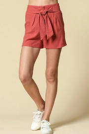 Illa Illa Orange Belted Shorts - Product Mini Image