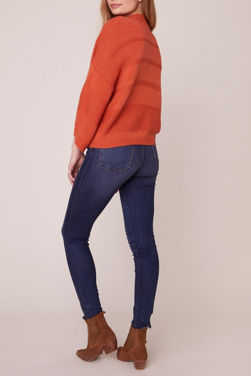 Jack by BB Dakota Orange Boxy 3/4 Sleeve Sweater - Front Full Image