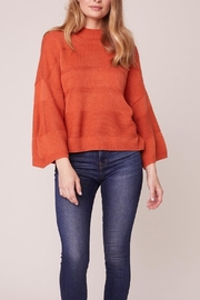 Jack by BB Dakota Orange Boxy 3/4 Sleeve Sweater - Front cropped