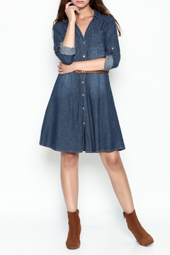 Orange Caramel Denim Shirtdress - Product List Image