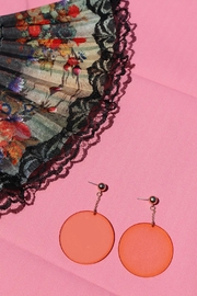 Minx Orange Circle Earrings - Product Mini Image