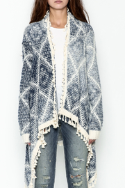 Orange Creek Fringe Sweater Cardigan - Front full body