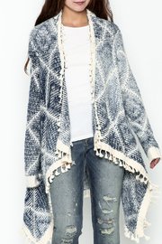 Orange Creek Fringe Sweater Cardigan - Front cropped