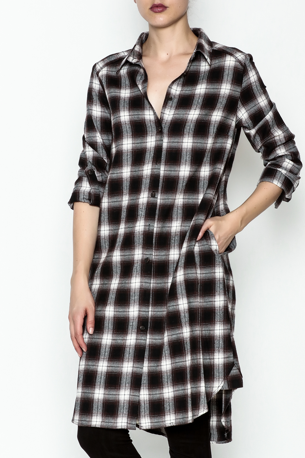 Orange Creek Plaid Flannel Shirt Dress From North Carolina By Jules