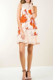 Entro Orange Floral Dress - Product Mini Image