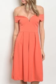 Vijo Couture Orange Midi Dress - Product Mini Image