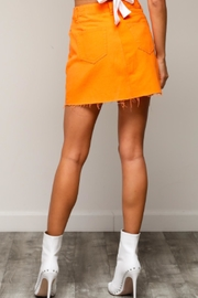 TIMELESS Orange Mini Skirt - Front full body