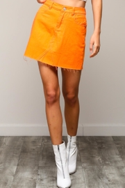 TIMELESS Orange Mini Skirt - Product Mini Image