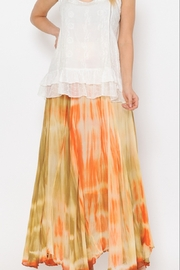 KIMBALS ORANGE OMBRE TIE DYE SKIRT - Product Mini Image