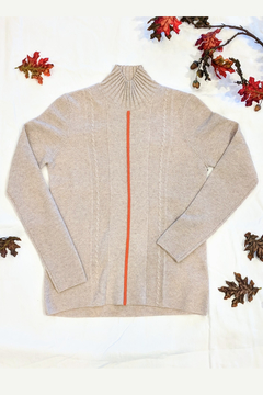 Shoptiques Product: Orange Piped Cashmere Sweater