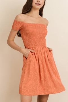 dress forum Orange Polka-Dot Dress - Product List Image