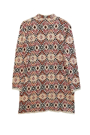 Baciano Orange Print Cardigan - Front full body