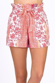 HYFVE Orange Printed Shorts - Product Mini Image