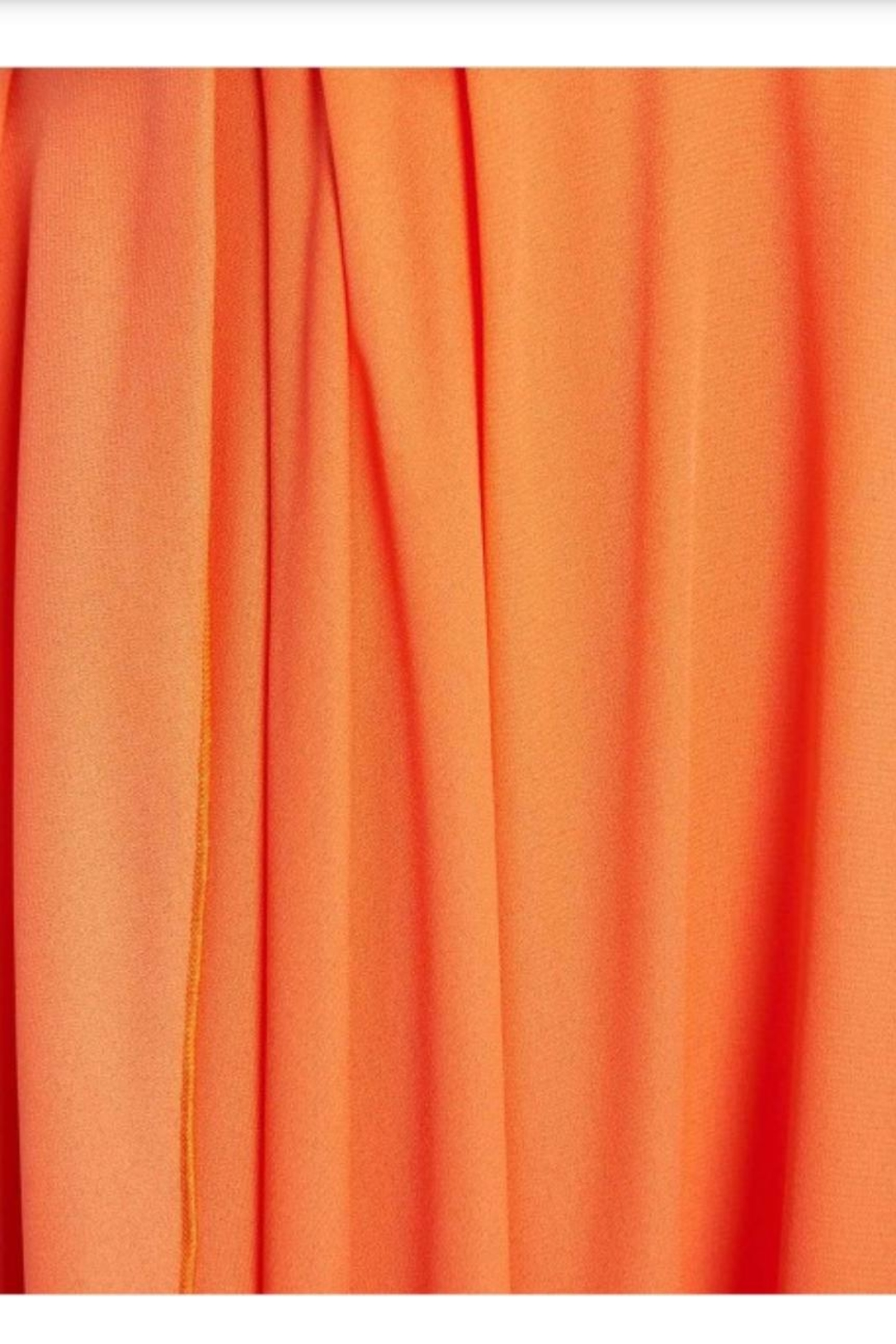 Forever Unique Orange Ruffled Maxi - Back Cropped Image