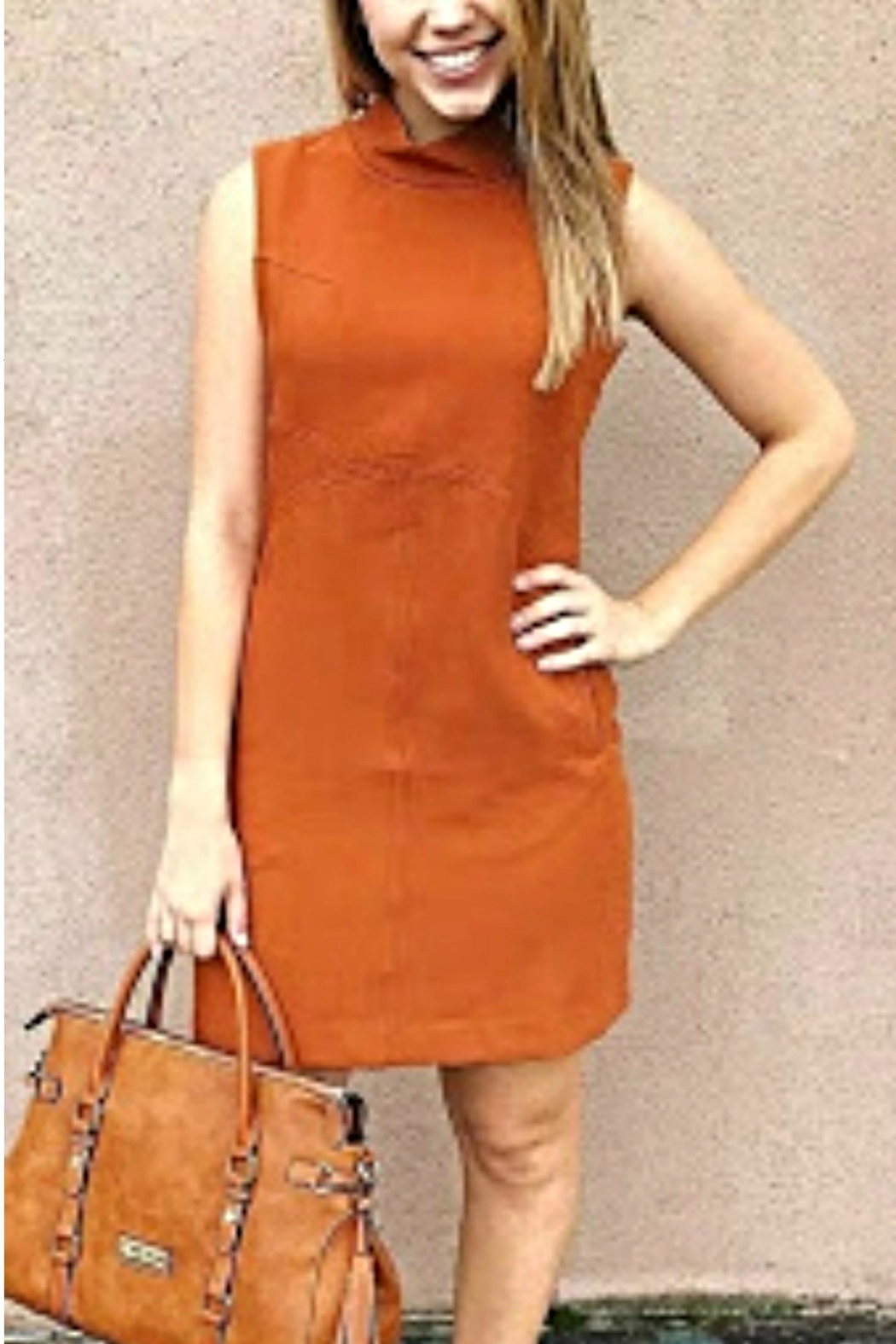 Simply Noelle Orange Structured Dress - Main Image