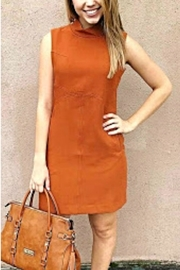 Simply Noelle Orange Structured Dress - Front cropped