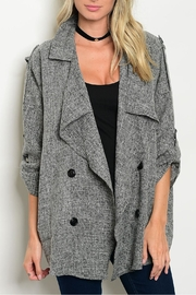 Orange Creek Charcoal Trench Coat - Product Mini Image