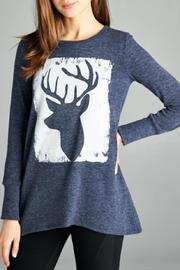 Orange Creek Printed Deer Top - Product Mini Image