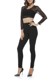 Orange Fashion Village High-Band Ponte Pants - Front cropped