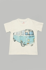 Orange Heat Organic Vw Bus Tee - Product Mini Image