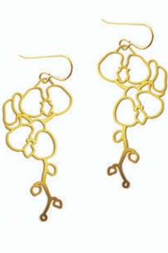 Daphne Olive Orchid Earrings - Alternate List Image