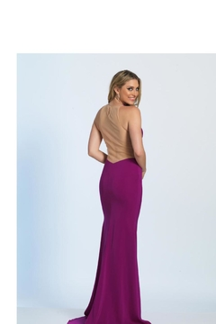 Dave and Johnny Orchid Mesh Dress - Alternate List Image