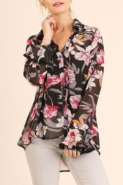 Umgee USA Orchid-Print Blouse - Product Mini Image