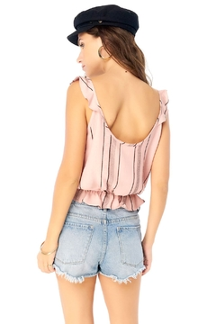 Saltwater Luxe Orchid Ruffle Tank - Product List Image