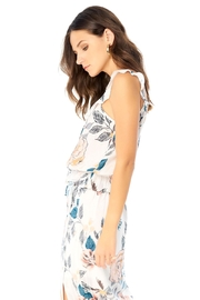 Saltwater Luxe Orchid Ruffle Tank - Side cropped