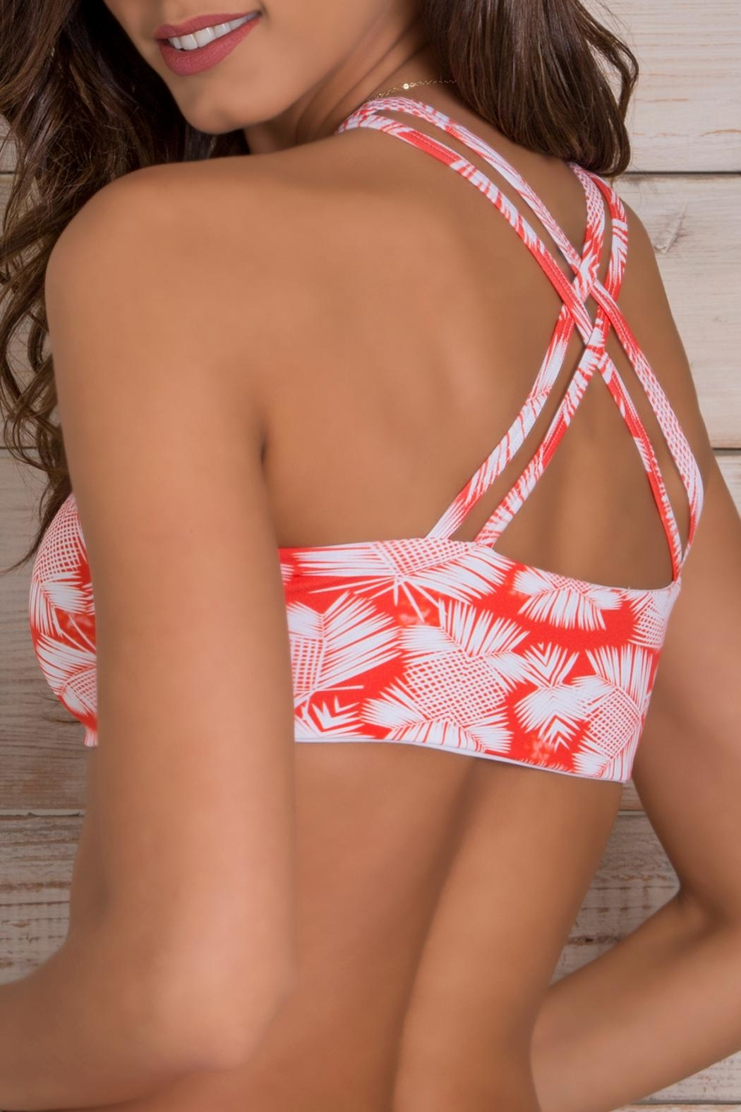 Orchid Label Ivanna Lanikai Top - Back Cropped Image