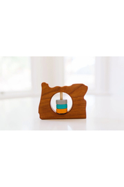 Bannor Toys  Oregon State Wooden Baby Rattle - Product Mini Image